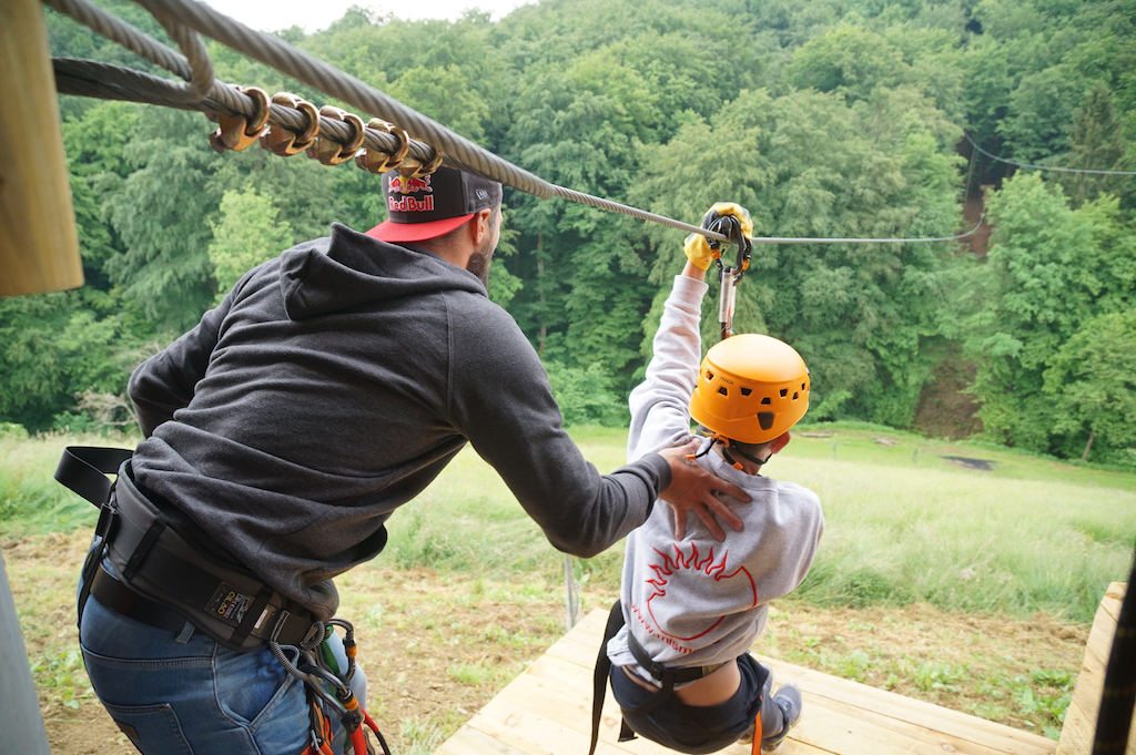 Zipline for kids and adults, experience